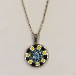 Sterling Silver Murano Glass Necklace